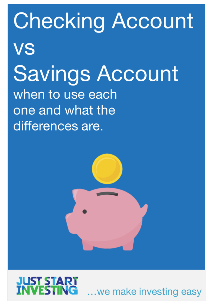 Checking account vs savings account - pinterest