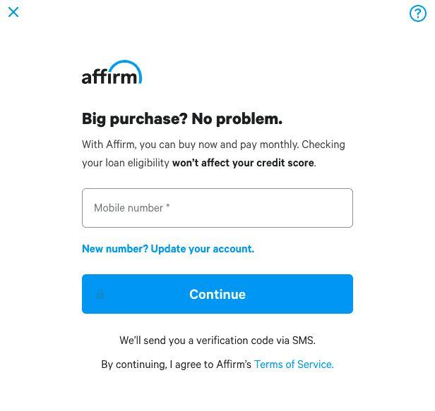 Affirm Buy Now Pay Layer